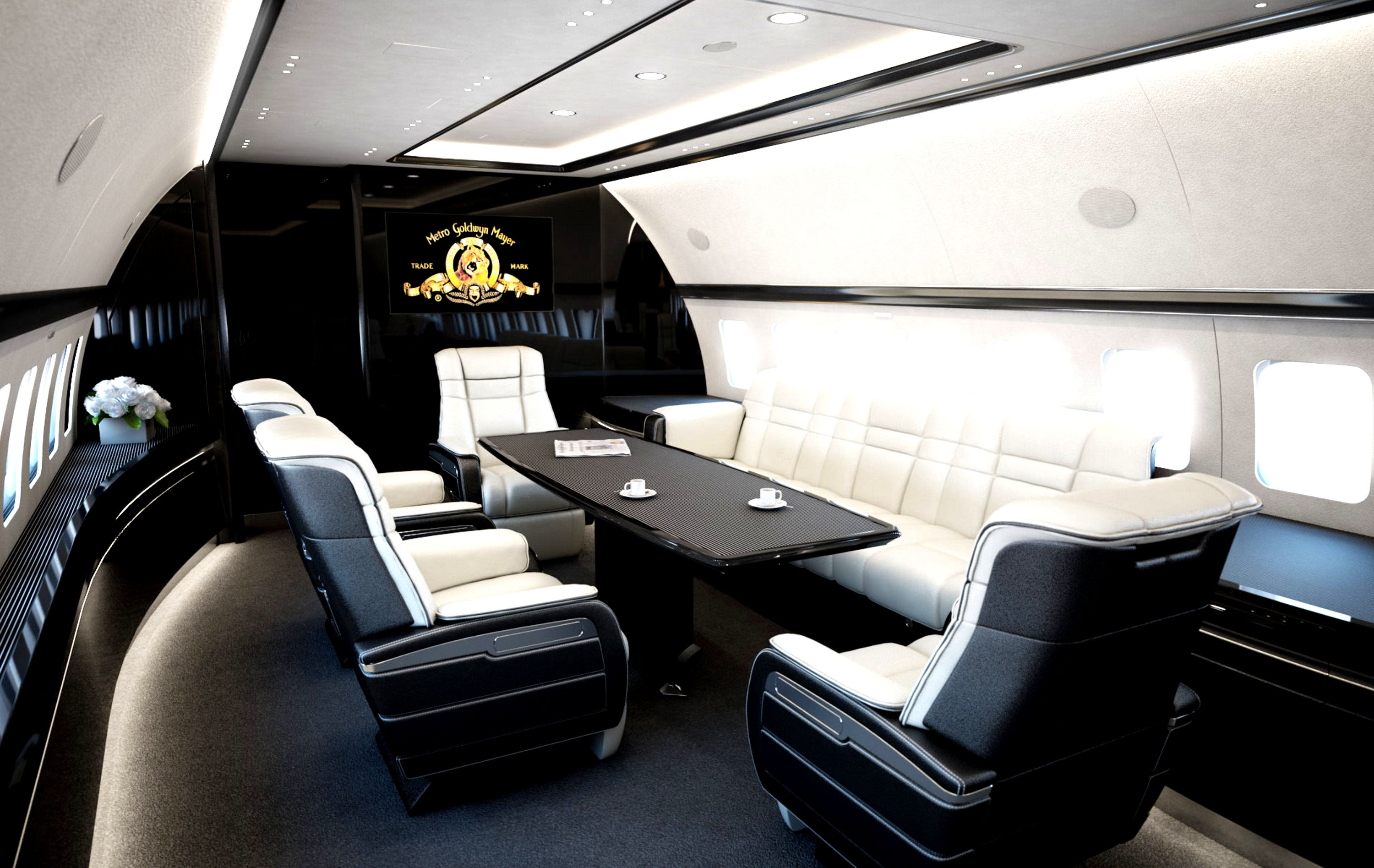 Business Jet Interiors Mega Engineering Vehicle Mega Ev