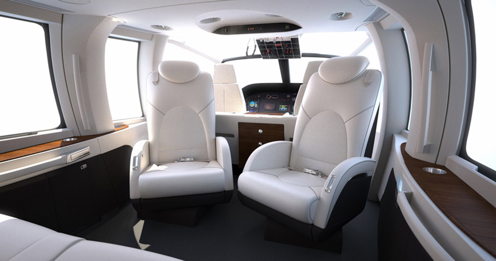 Image Gallery luxury helicopter interior
