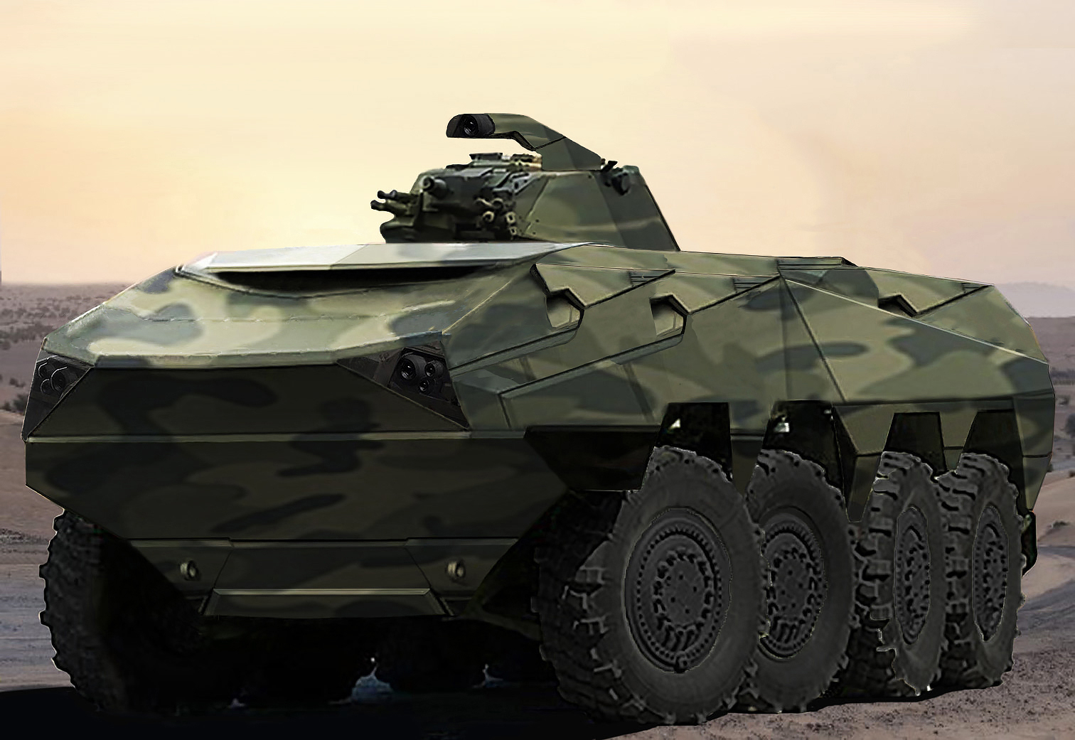 Defense - APC 8X8 - Laser Guided - LGV